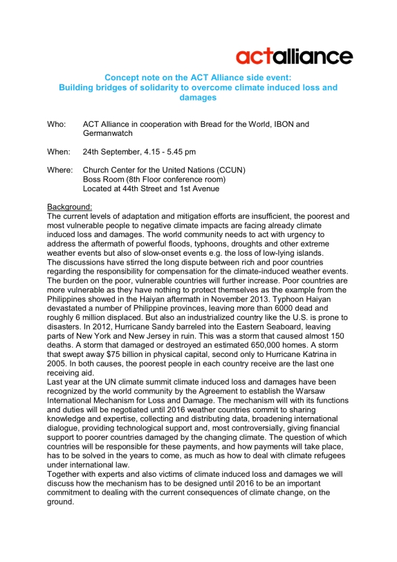 ACT Alliance side event on loss and damage_24
